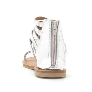 f5366d07a0c7 Qupid Shoes - Silver Metallic Gladiator Sandal